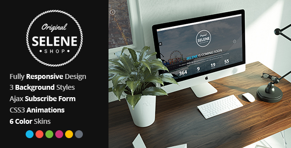 Selene - Responsive Coming Soon Template - Under Construction Specialty Pages