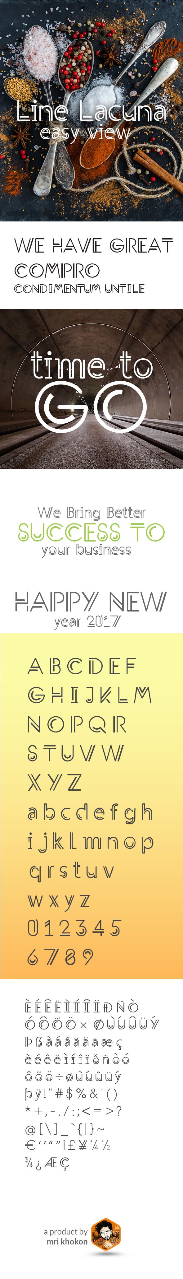 Line Lacuna Font - Sans-Serif Fonts