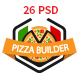 Pizza Builder- Online Pizza Making Restaurant PSD - ThemeForest Item for Sale
