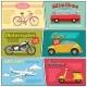 Comic Transport Mini Posters Set