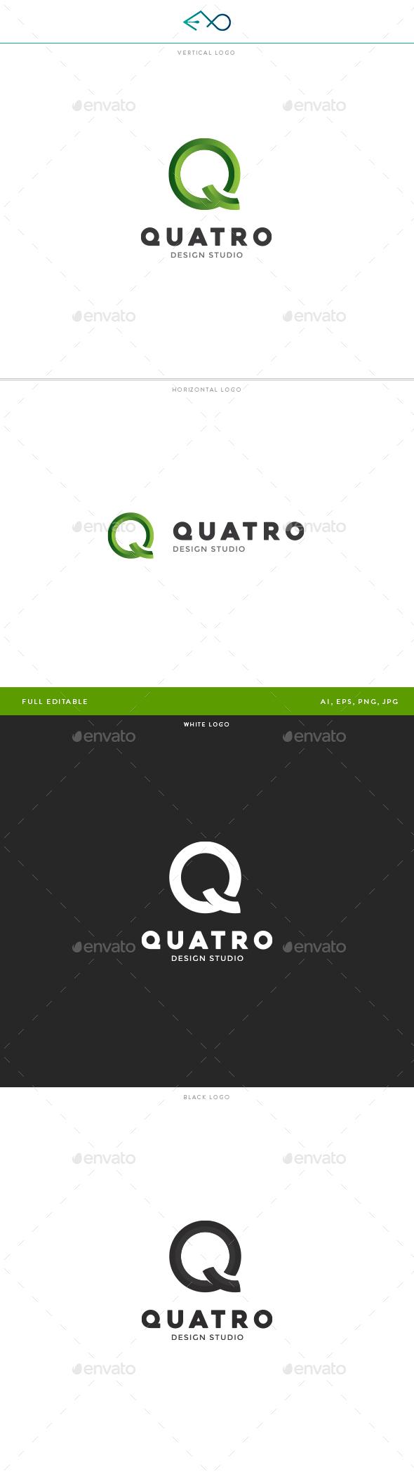 Quatro Logo - Letters Logo Templates