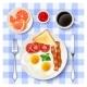 American Full Breakfast Top View Image