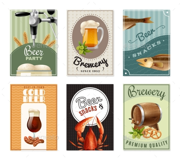 Beer Vertical Banners Set - Abstract Conceptual