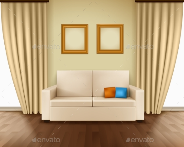 Realistic Room Interior - Backgrounds Decorative