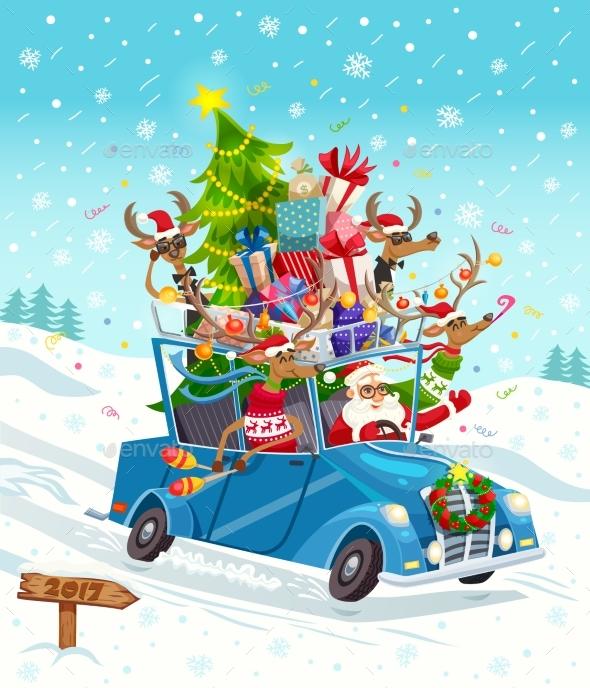 Cartoon Christmas Gift Card