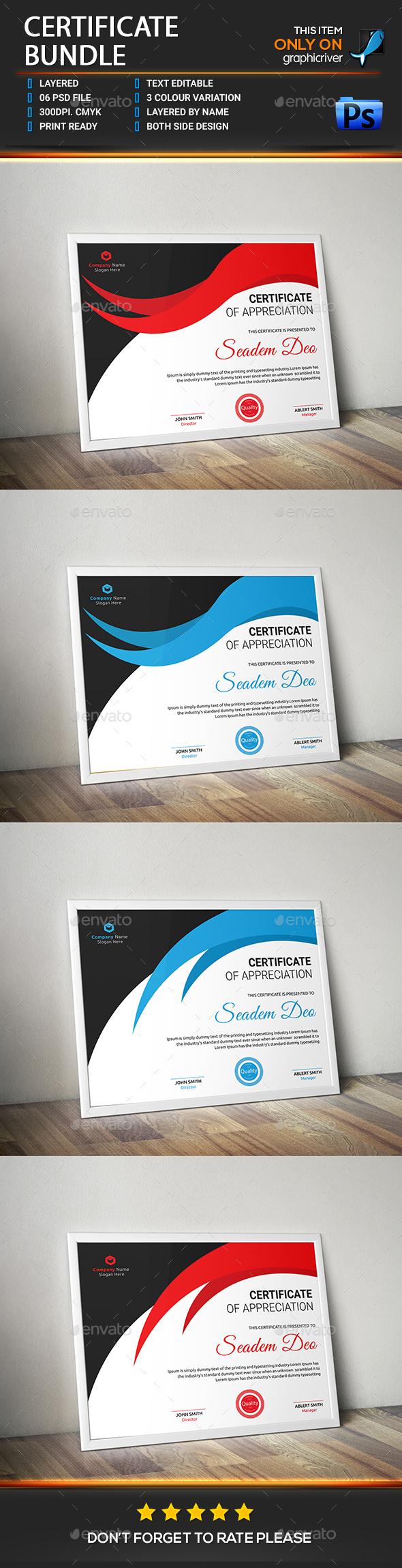 Certificate Bundle - Certificates Stationery