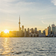 The skyline of Toronto at Sunset - VideoHive Item for Sale