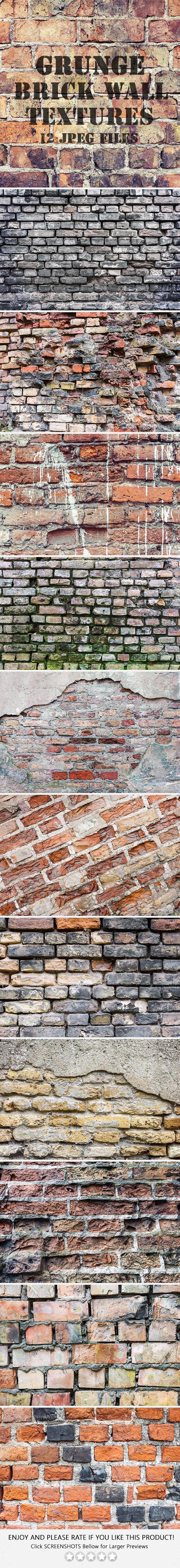 Old Brick Wall Textures - Industrial / Grunge Textures