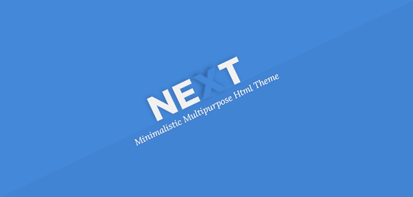 NEXT – Minimal Multipurpose Html Theme