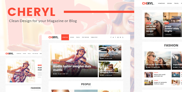 Cheryl – Responsive Design WordPress Magazine & Blog Theme