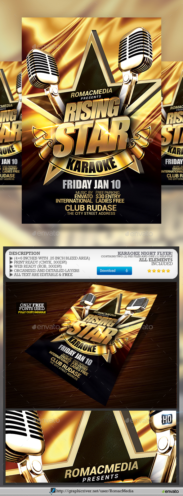 Karaoke Night - Events Flyers