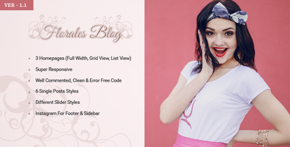 Florales Personal Blog HTML Template - Personal Site Templates
