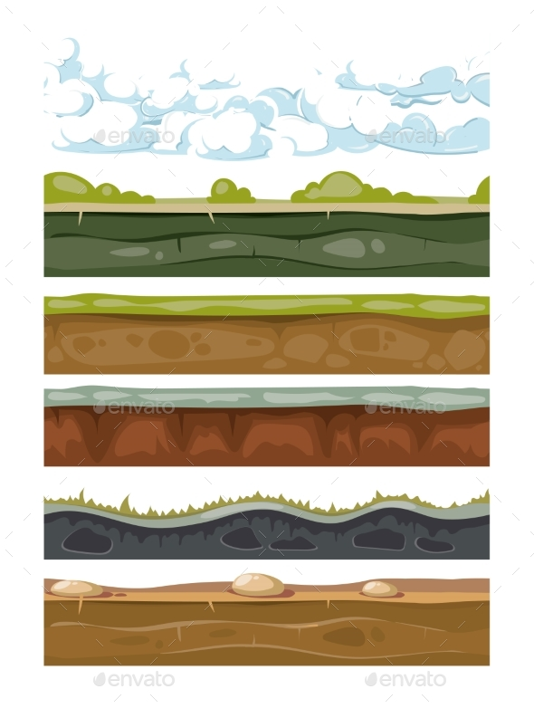 Set of Landscape Earth Backgrounds for Mobile - Miscellaneous Vectors