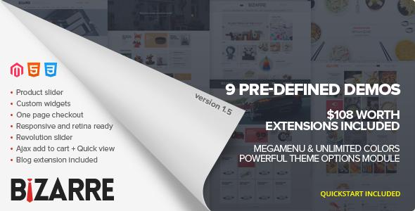 Bizarre - Responsive Magento Theme - Magento eCommerce