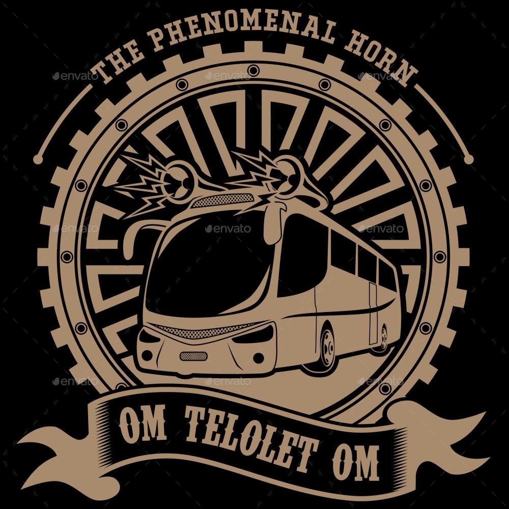 The Bus Horn Illustration