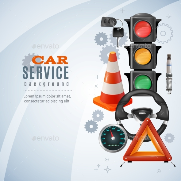 Car Service Background - Services Commercial / Shopping