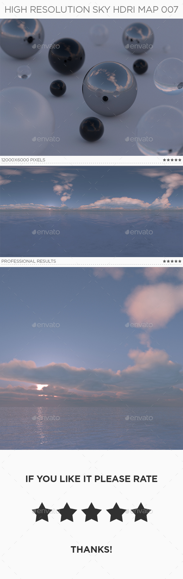 High Resolution Sky HDRi Map 007 - 3DOcean Item for Sale