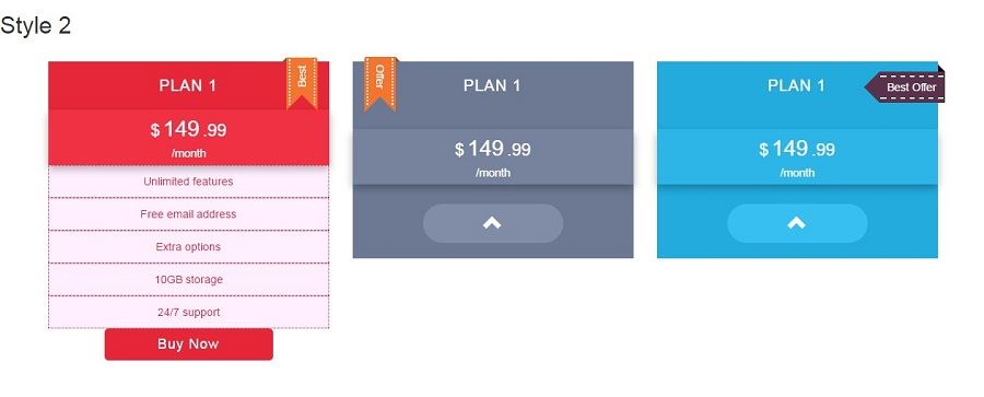 Zeus - Bootstrap Pricing Table with Generator