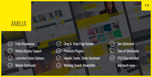 Amilia - Multipurpose One & Multi Page WP Theme - Business Corporate