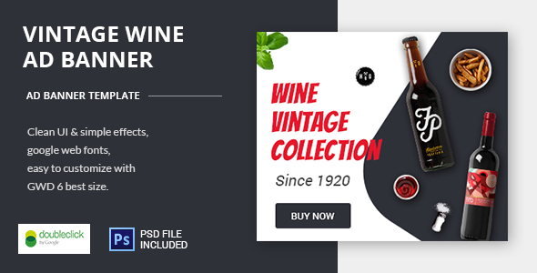 Wine - HTML Animated Banner - CodeCanyon Item for Sale
