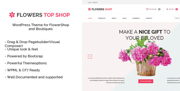Flowershop - Flowers and Boutique WordPress Theme