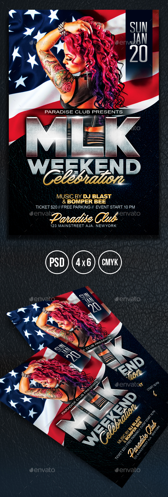 MLK Weekend Celebration Flyer - Clubs & Parties Events