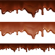 Melted Chocolate Dripping on White Background - GraphicRiver Item for Sale