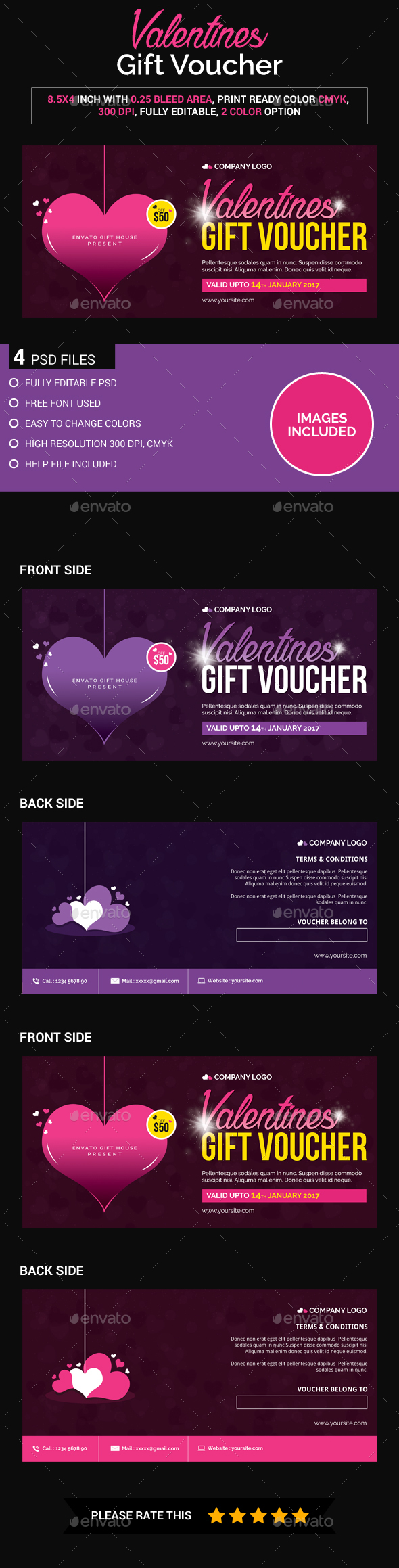 Valentines Gift Voucher - Loyalty Cards Cards & Invites