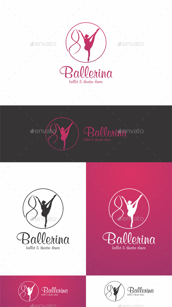 Ballerina Woman Logo - Humans Logo Templates