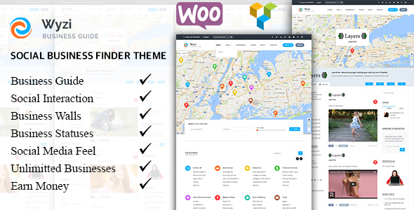 Wyzi – Business Finder and Service Provider Booking WordPress Social Look Directory Listing Theme