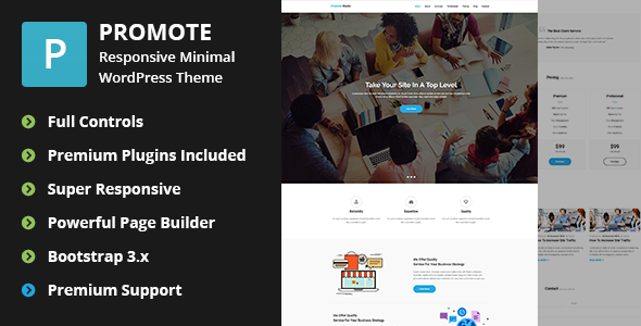 Promote - Digital Marketing Agency WordPress Theme