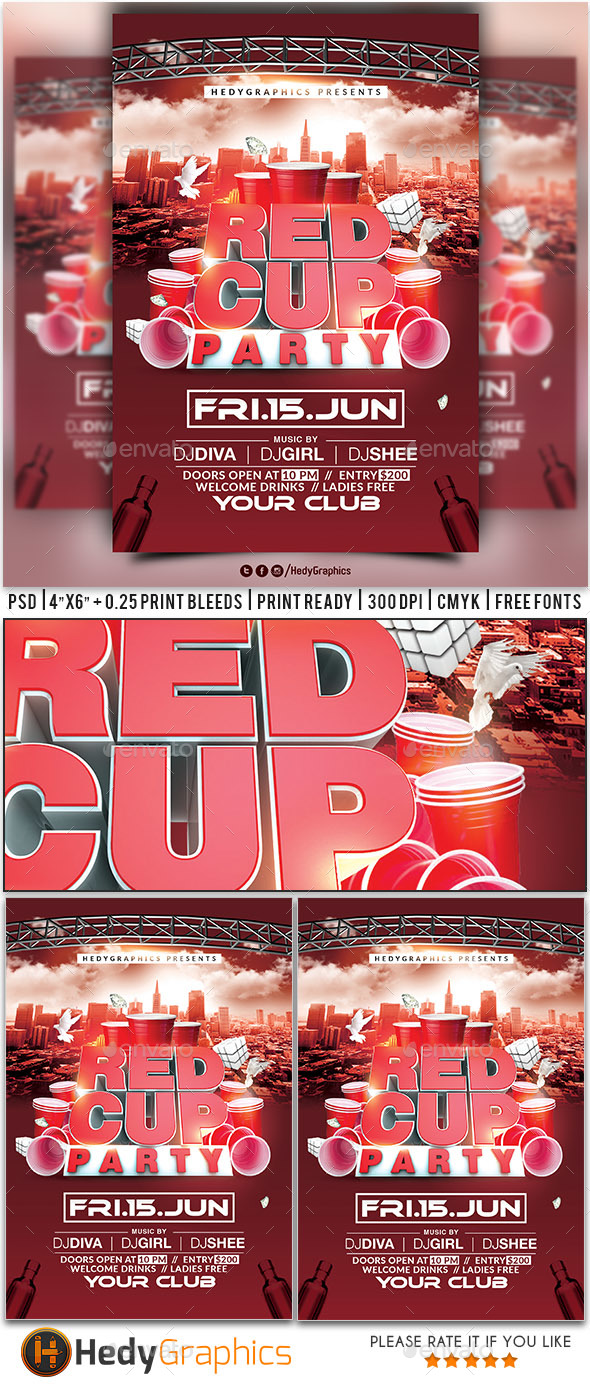 Red Cup Party - Flyer - Events Flyers
