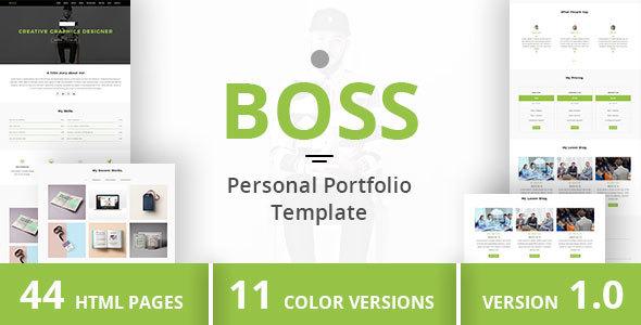 BOSS - Personal Portfolio Template