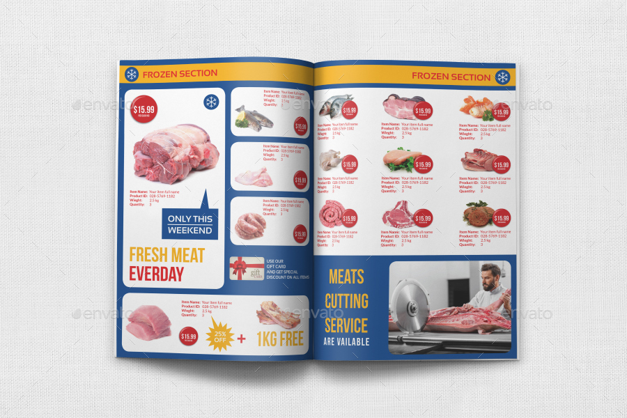 supermarket catalog brochure template vol4 12 pages