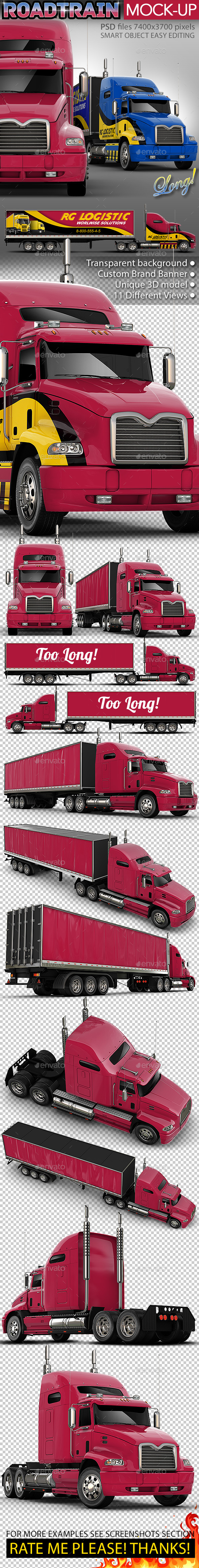 Road Truck based Mack pinnacle Mock-up - Vehicle Wraps Print