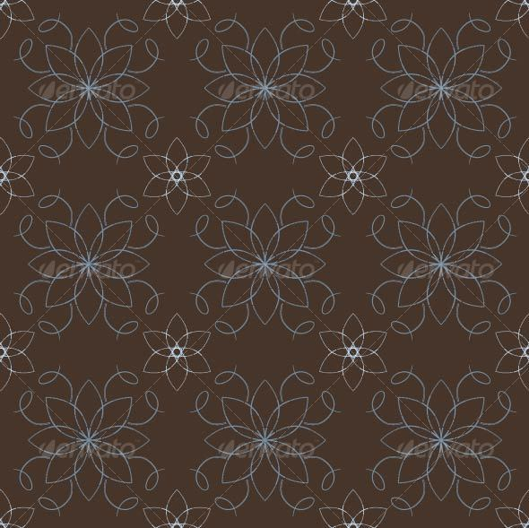 Retro Flower Pattern - Patterns Decorative