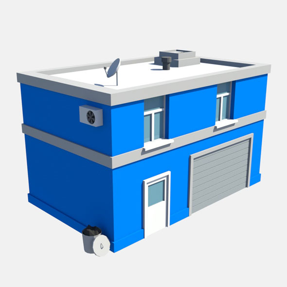 low poly garage - 3DOcean Item for Sale