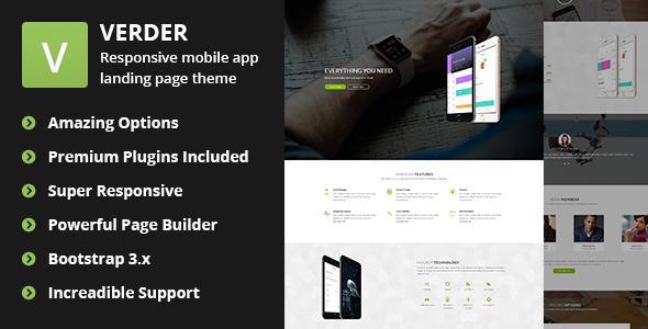 Verder – Responsive WordPress App Theme