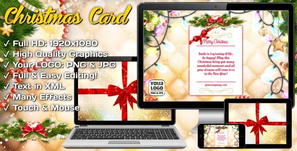 Christmas Card - Magic Gift - CodeCanyon Item for Sale
