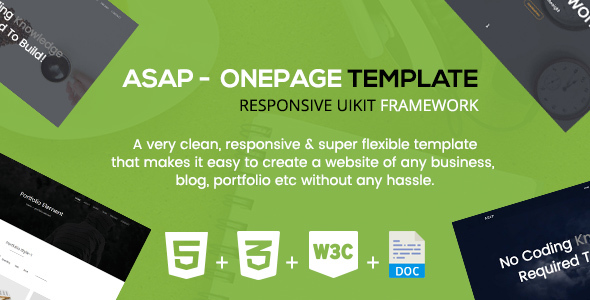 Asap – A Responsive Onepage Corporate Template