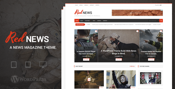 RedNews - WordPress News / Magazine Theme - News / Editorial Blog / Magazine