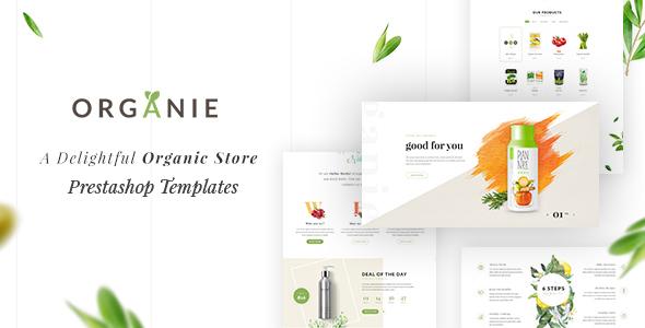 Organie - A Delightful Organic Store eCommerce Prestashop Theme V1.6 & V1.7.1