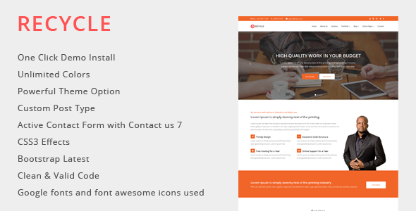 Recycle – Multipurpose WordPress Theme