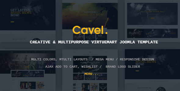 Vina Cavel - Creative & Multipurpose VirtueMart Joomla Template
