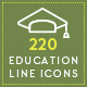 220 Education Line Icons - GraphicRiver Item for Sale