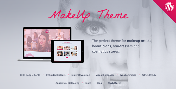 MakeUp | Makeup & Beauty WordPress Theme - Health & Beauty Retail
