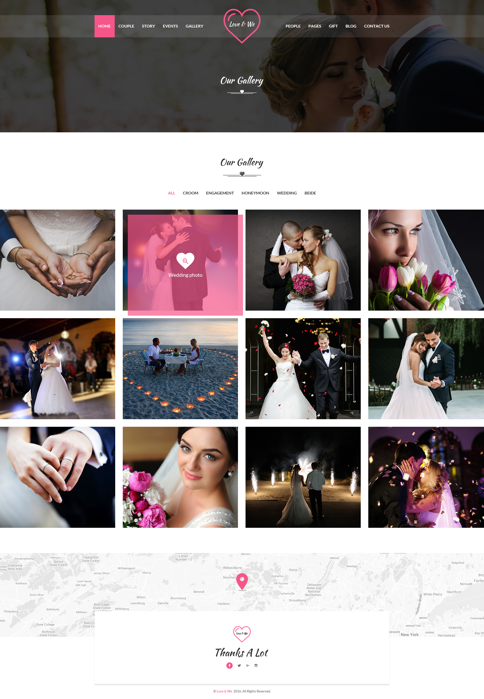 Love & We Wedding PSD Template by codecarnival | ThemeForest