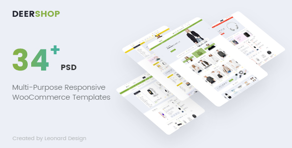 DeerShop | Multi-Purpose Responsive Ecommerce PSD Template - Retail PSD Templates