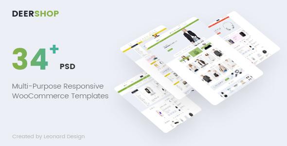 DeerShop | Multi-Purpose Responsive Ecommerce PSD Template