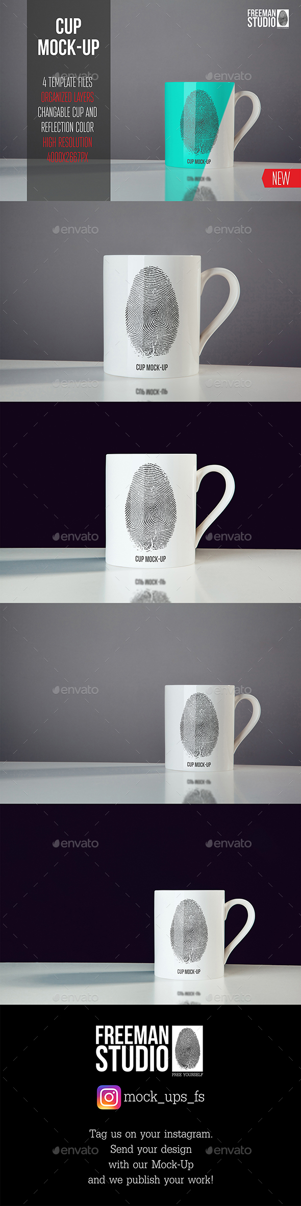 Cup Mock-Up - Product Mock-Ups Graphics